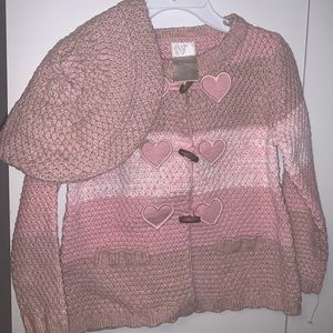 Brand New- Sweater and Berte Set - Dusty Pink - 2T